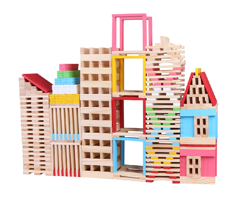 Wooden plank building set children building blocks set for Plank blocks