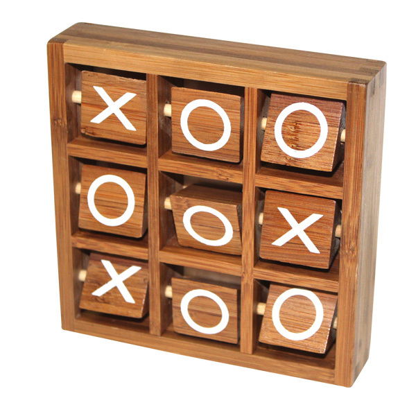 wooden 3D Noughts and Crosses