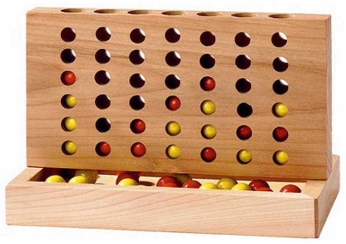 wooden make four ball in a row