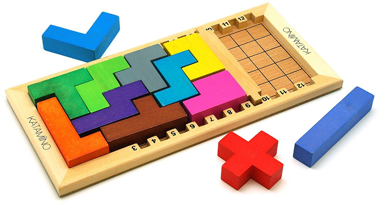 wooden brain teaser puzzle for children
