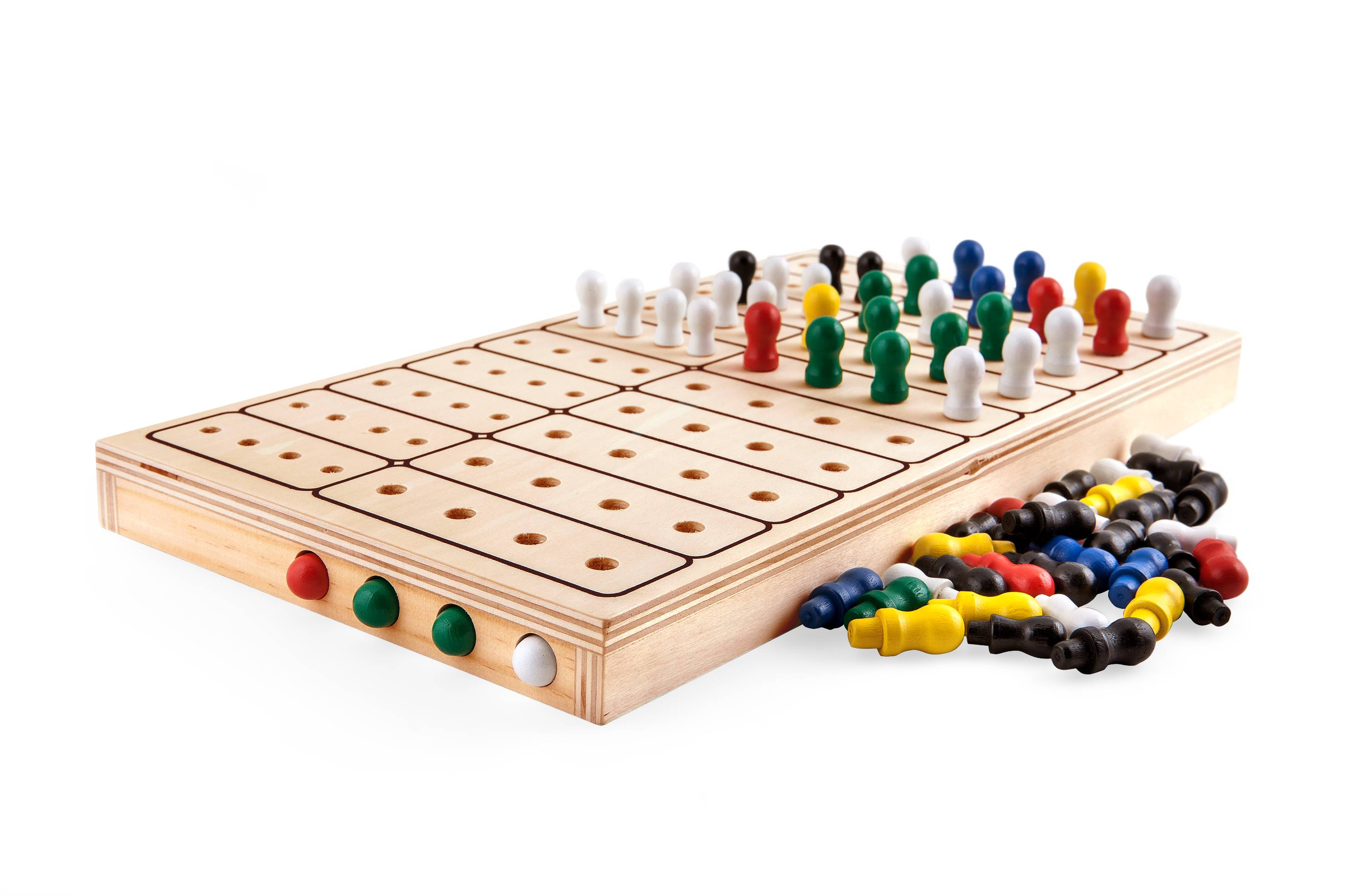 wooden strategy board game