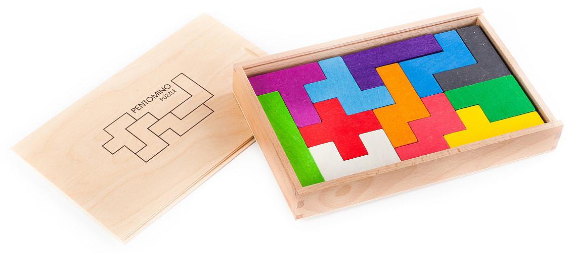 wooden brain teaser game