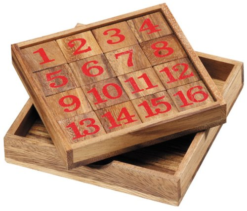 wooden square number number puzzle