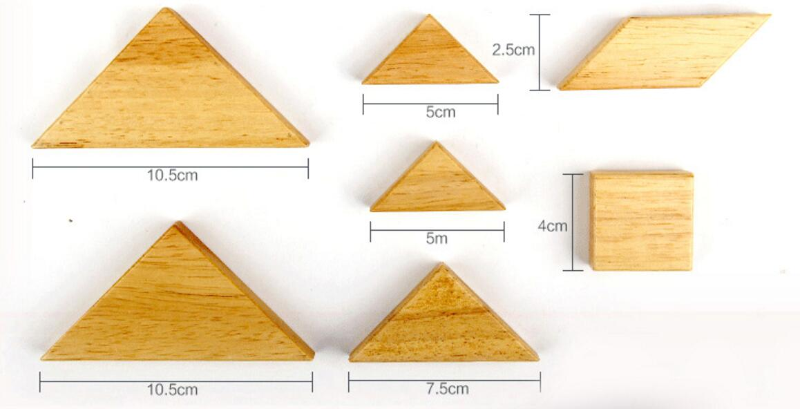 wooden seven pieces tangram