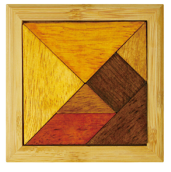 classical wooden tangram puzzle