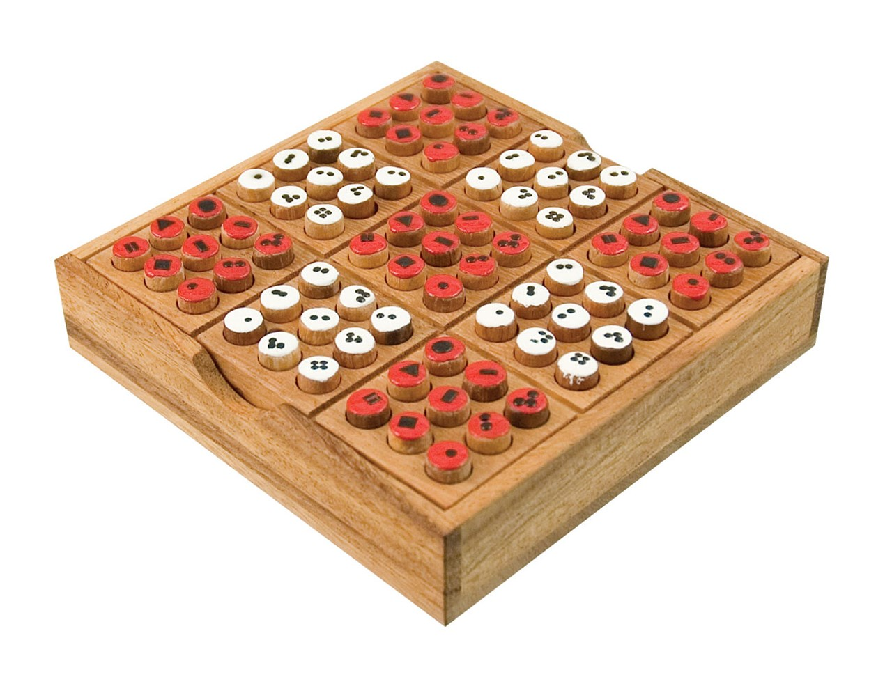 wooden logic number puzzle