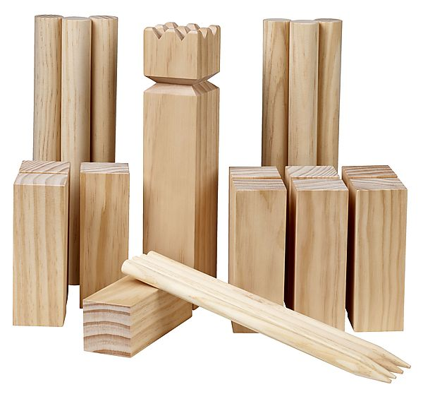 wooden garden game set