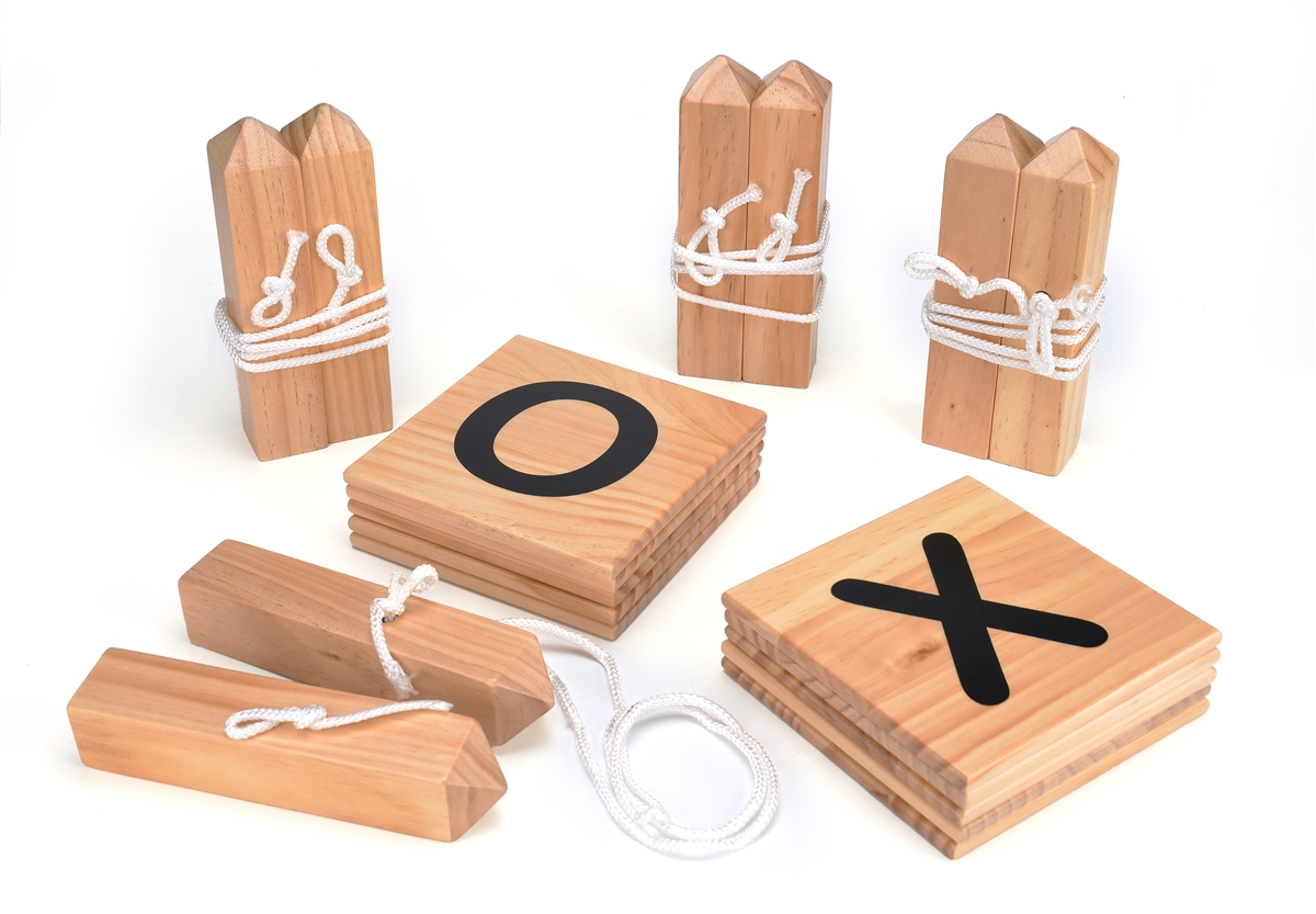 wooden lawn game