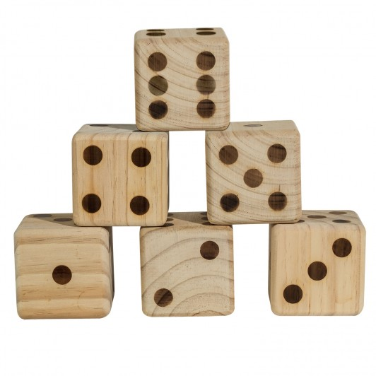 wooden dice game