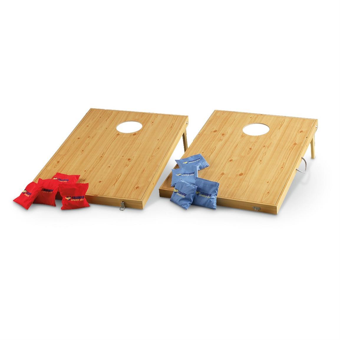 wooden cornhole board game