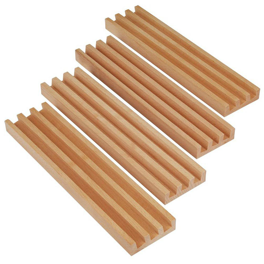 wooden domino holder set