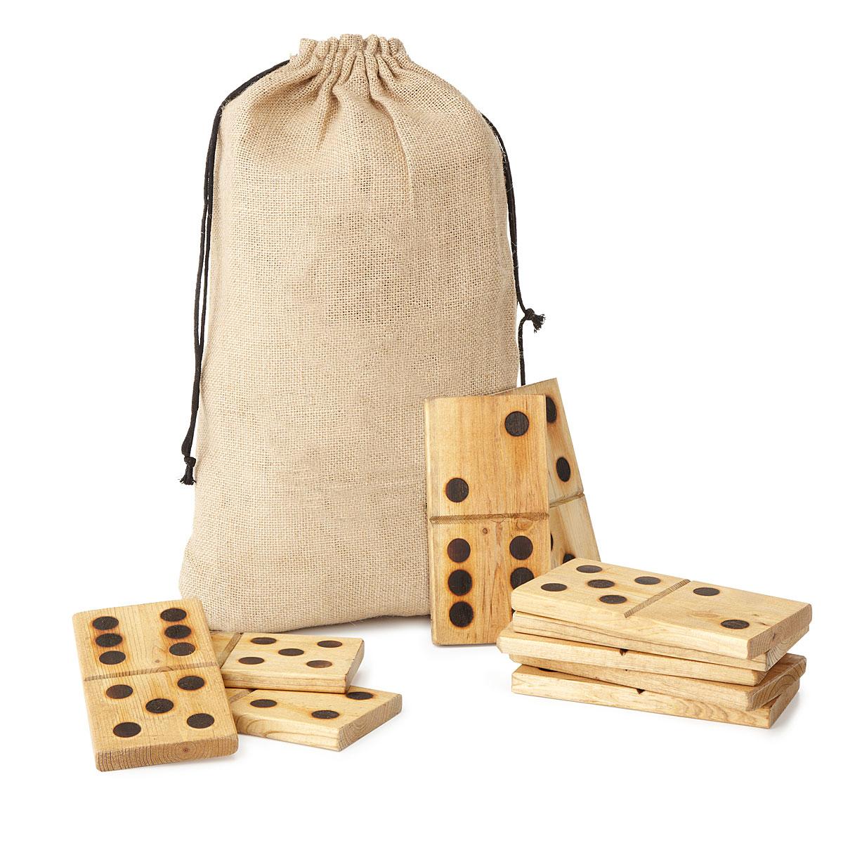 wooden garden dominoes game