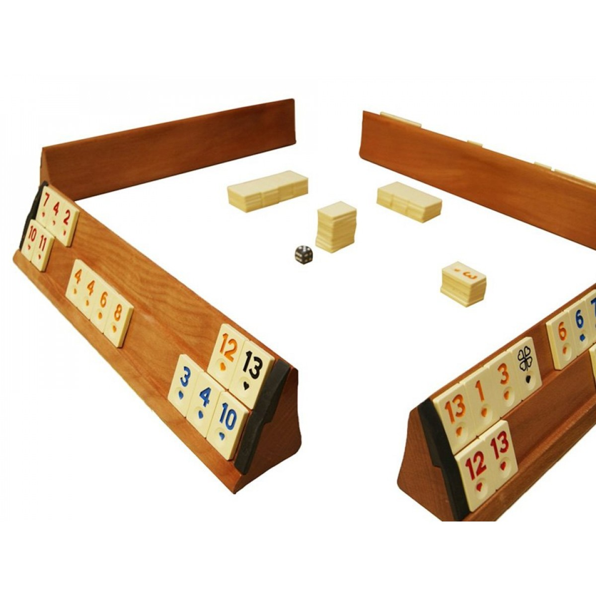 wooden rummikub game set