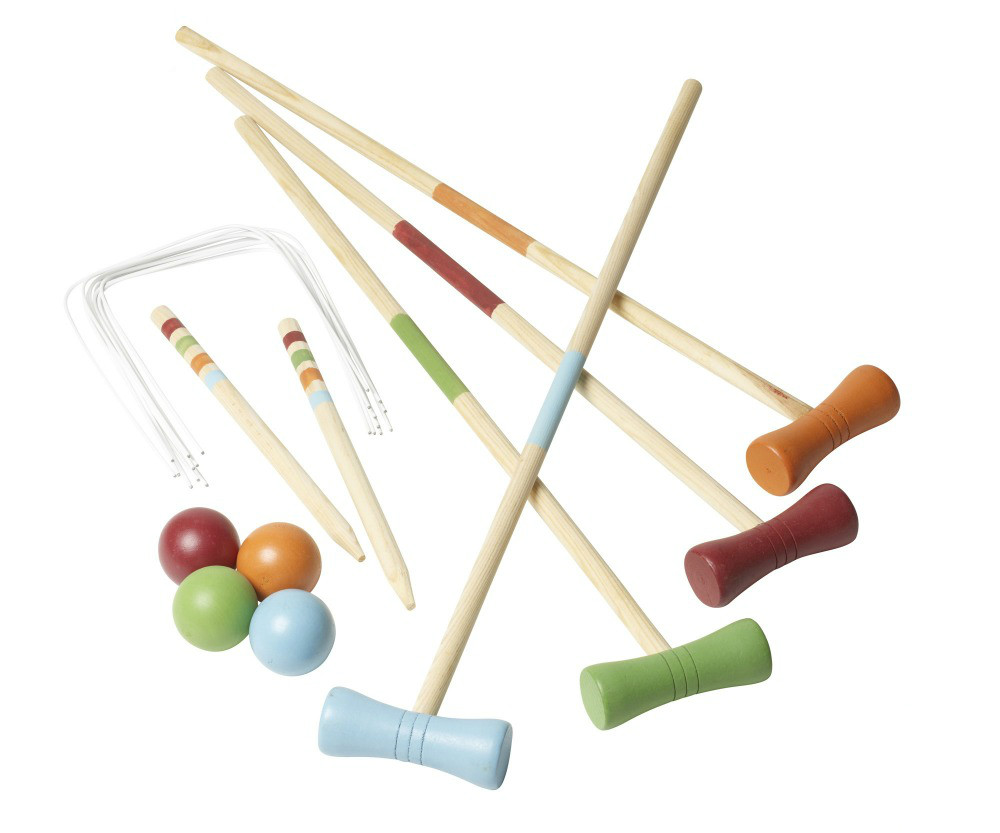 wooden yard croquet game