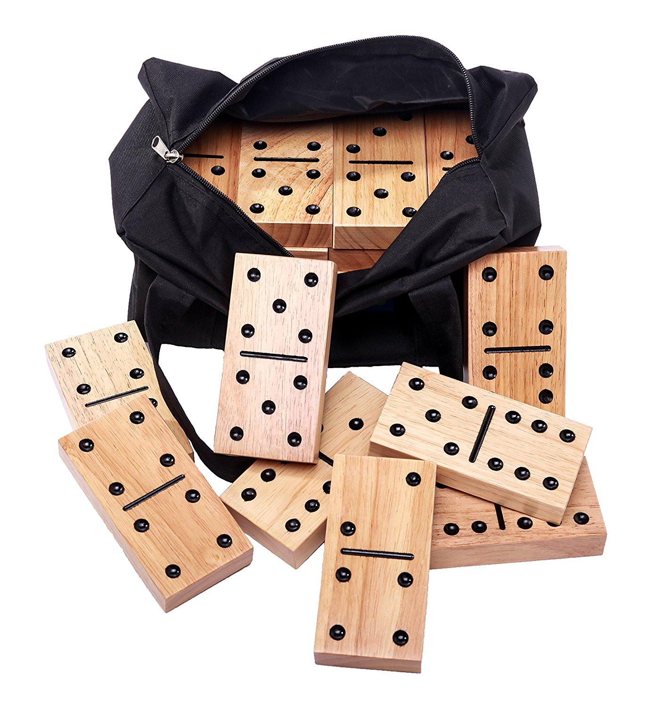 wooden outdoor dominoes game