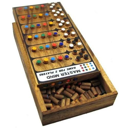 wooden master mind game