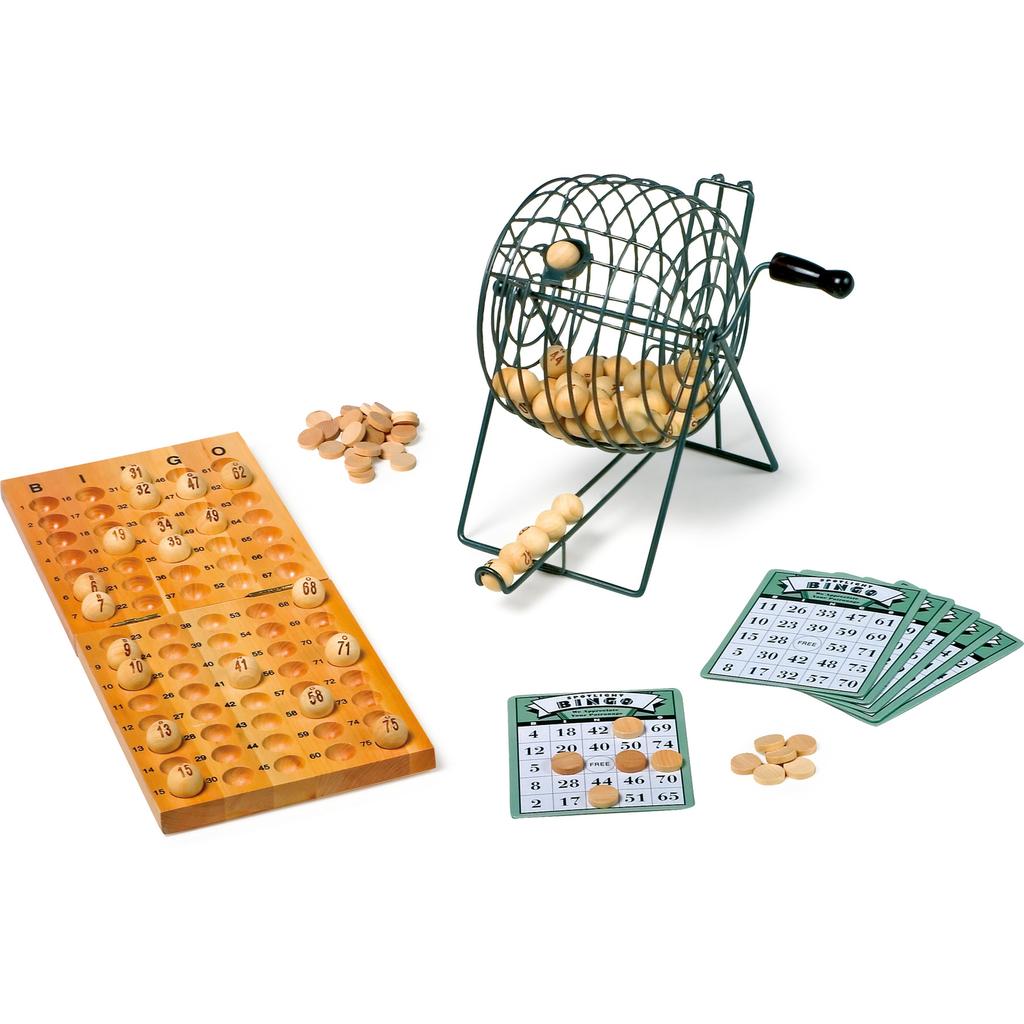 wooden bingo board game