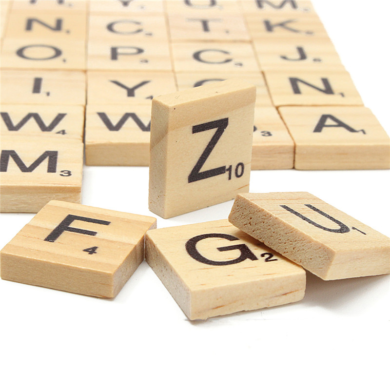 Wooden letter game