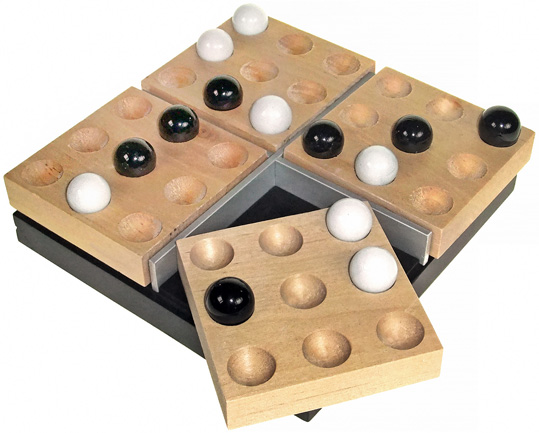 wooden marble strategy game