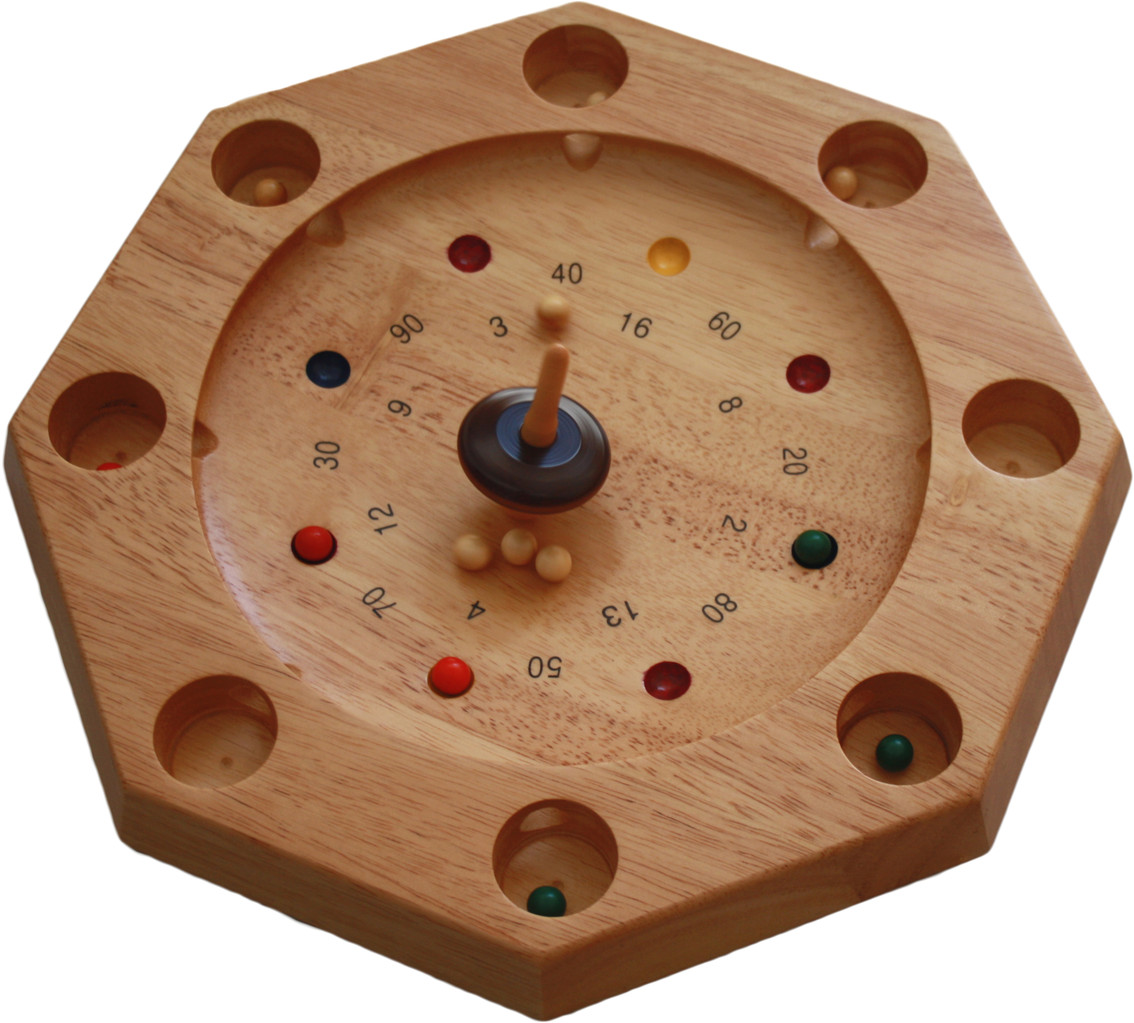 wooden top spinning game