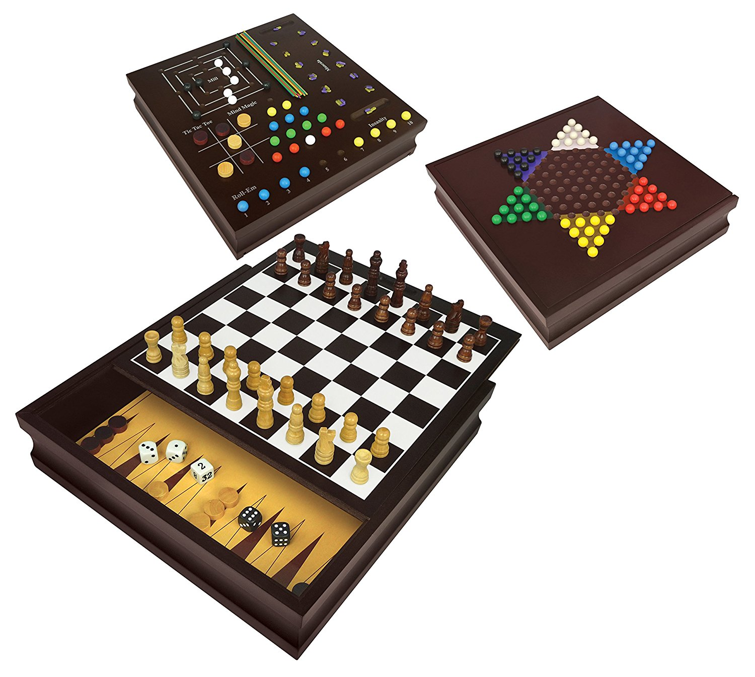 wooden strategy game center