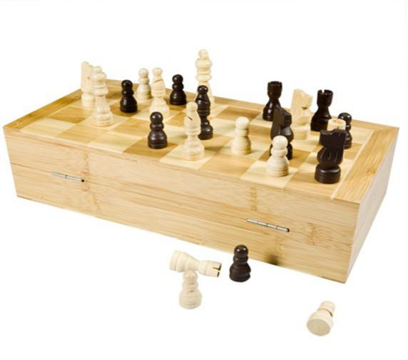 bamboo chess box set