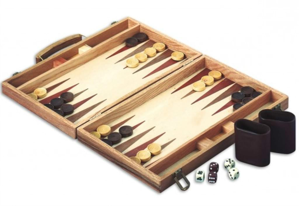 wooden board game set