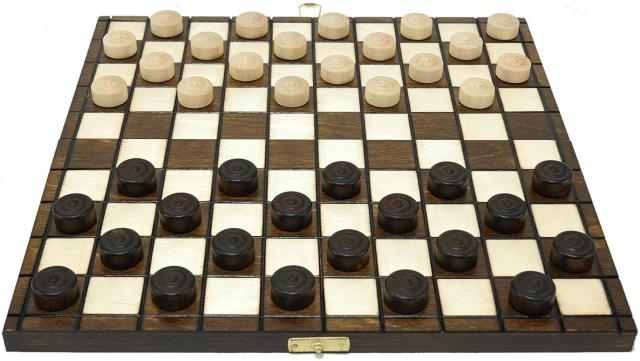 wooden collection checkers