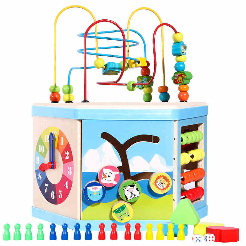 wooden baby learn activity center