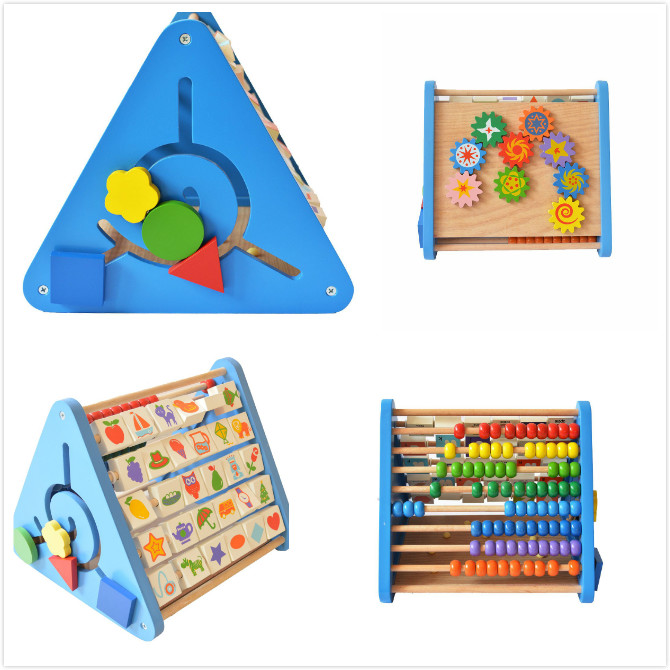 wooden Multifunction baby learning Toy
