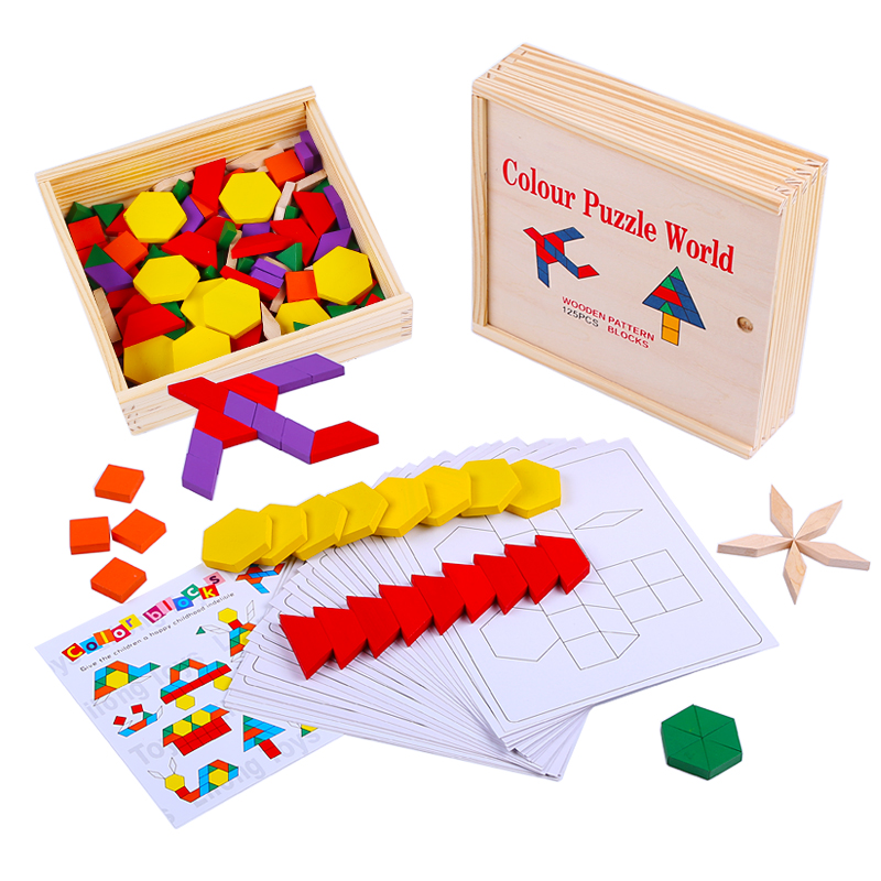 wooden shape blocks