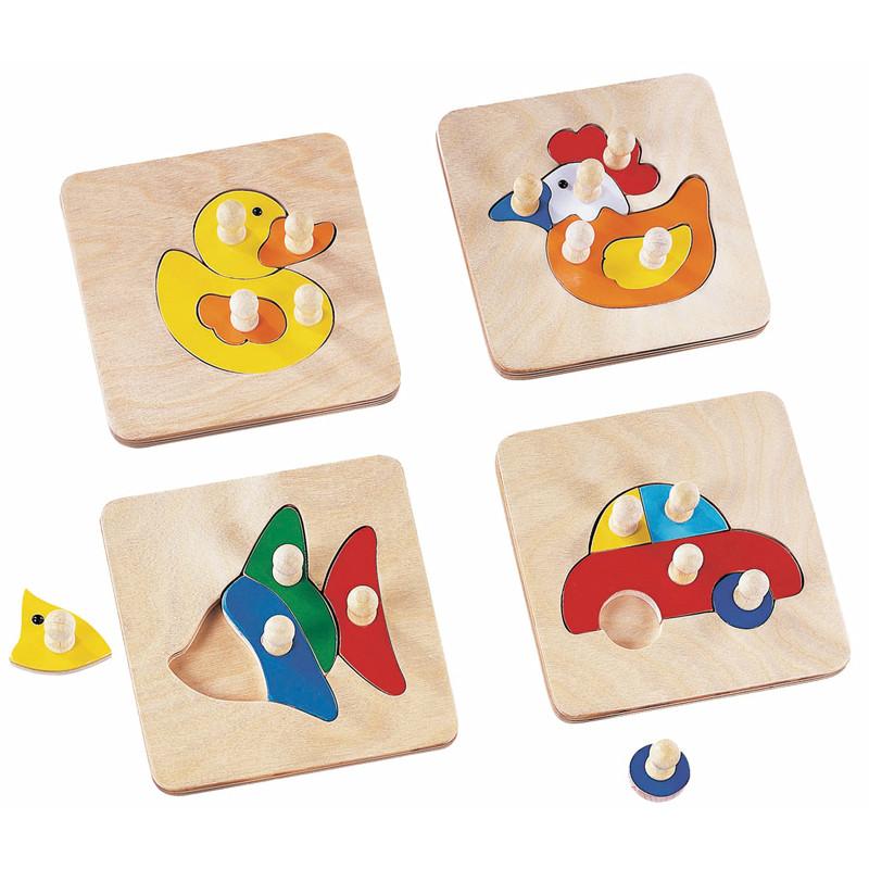 wooden animal peg puzzle