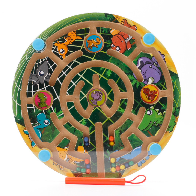 wooden earth maze toy