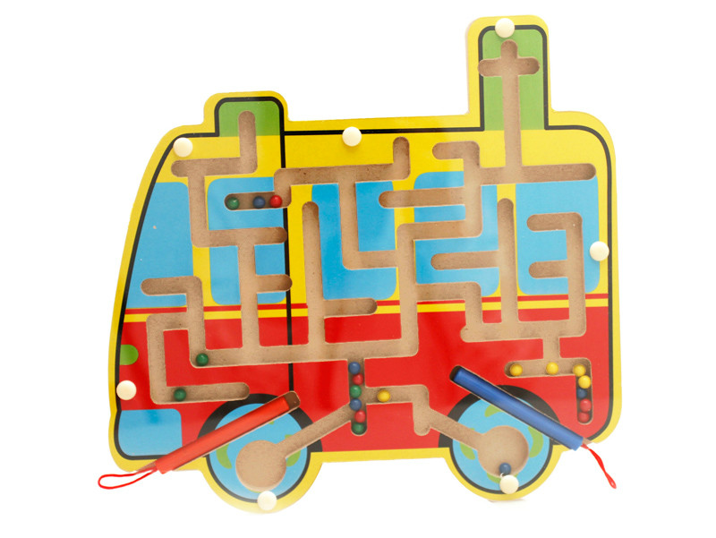 wooden car maze toy