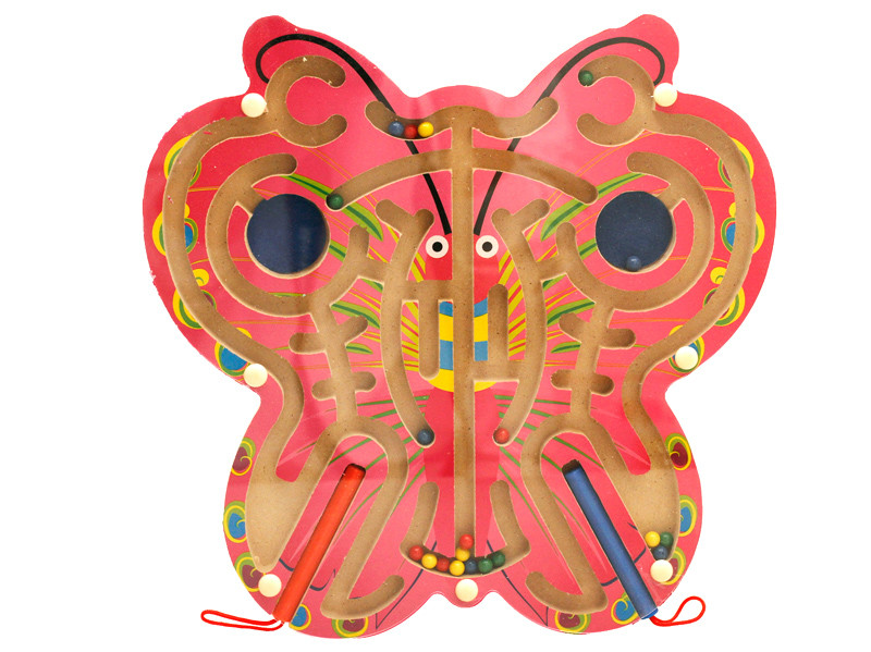 wooden butterfly maze