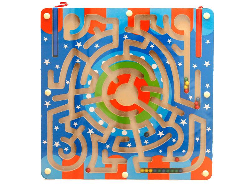 wooden children preschool maze toy