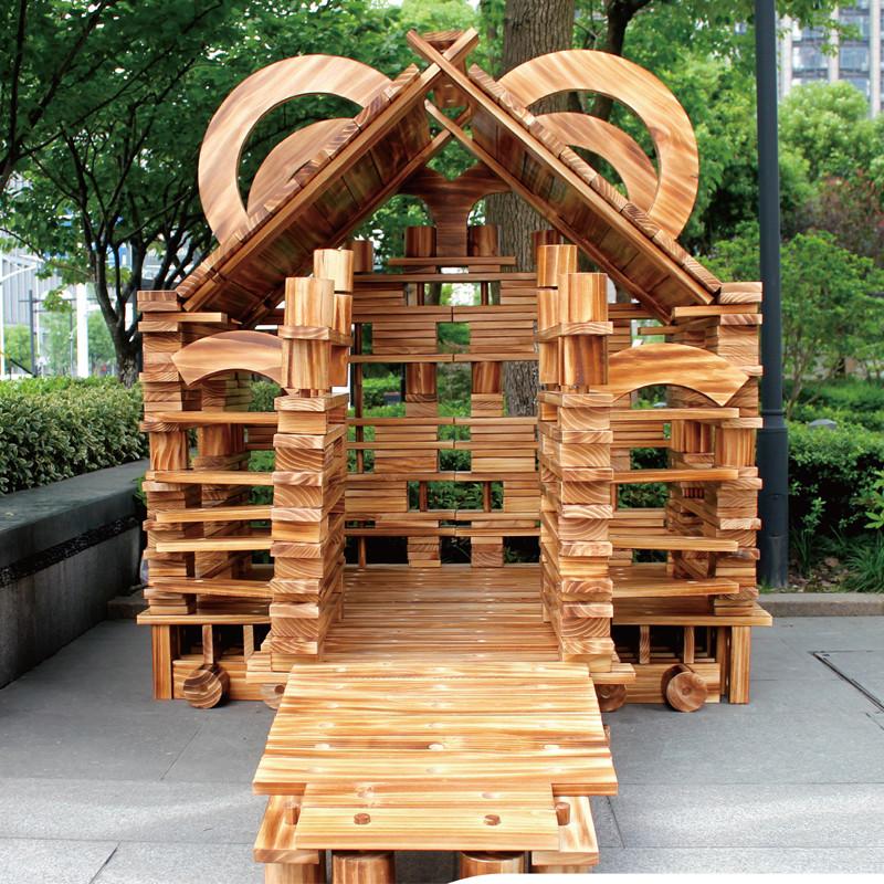 wooden big blocks set