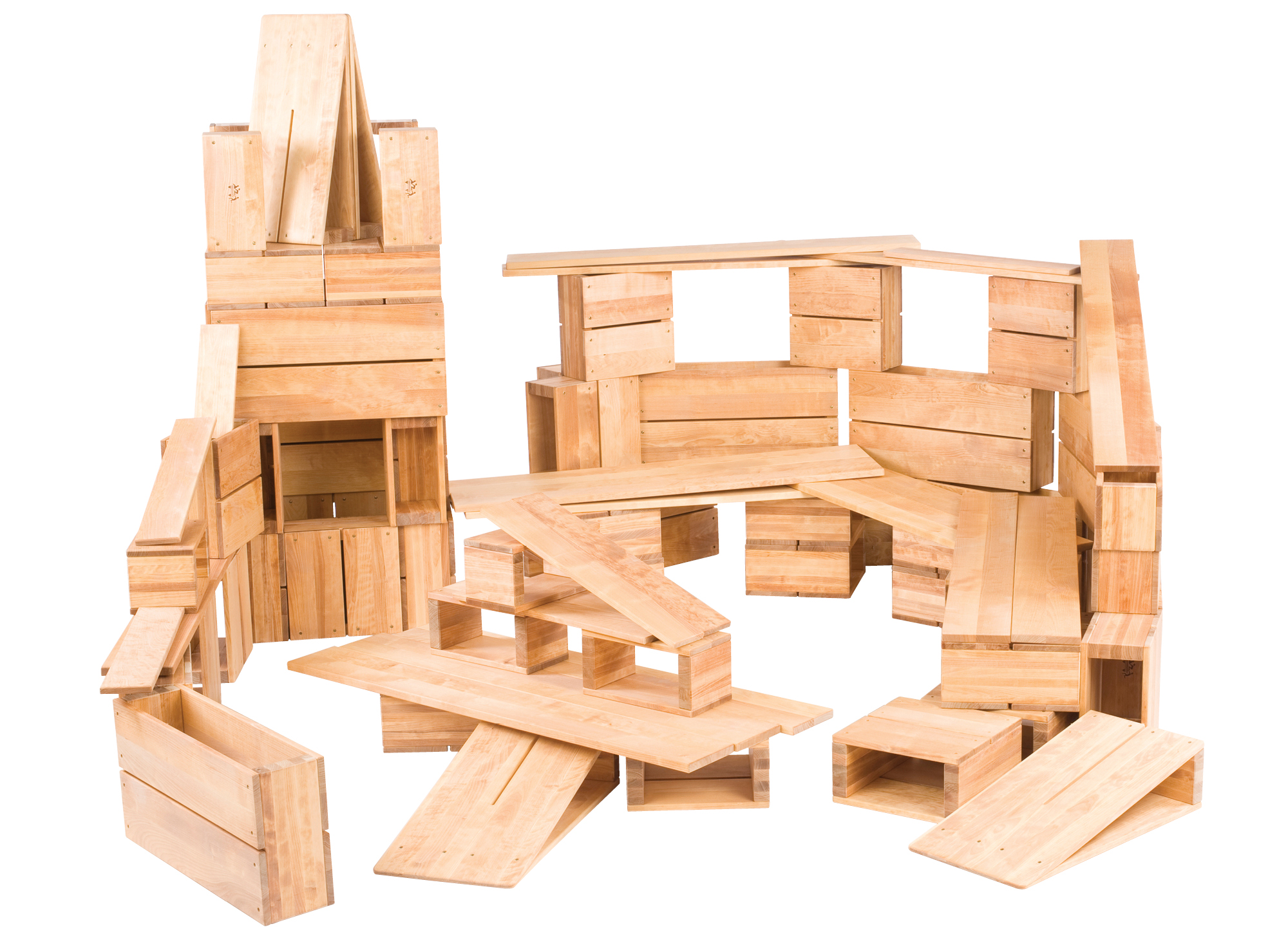 huge wooden building blocks set