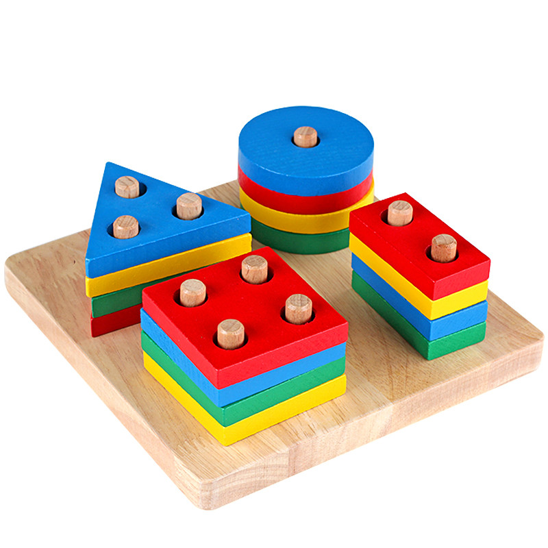 wooden geometric toy