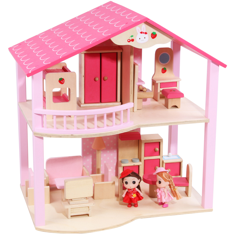 wooden dollhouse toy