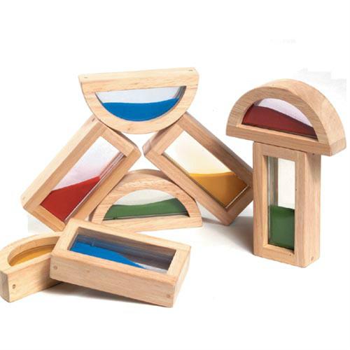 wooden building shape blocks