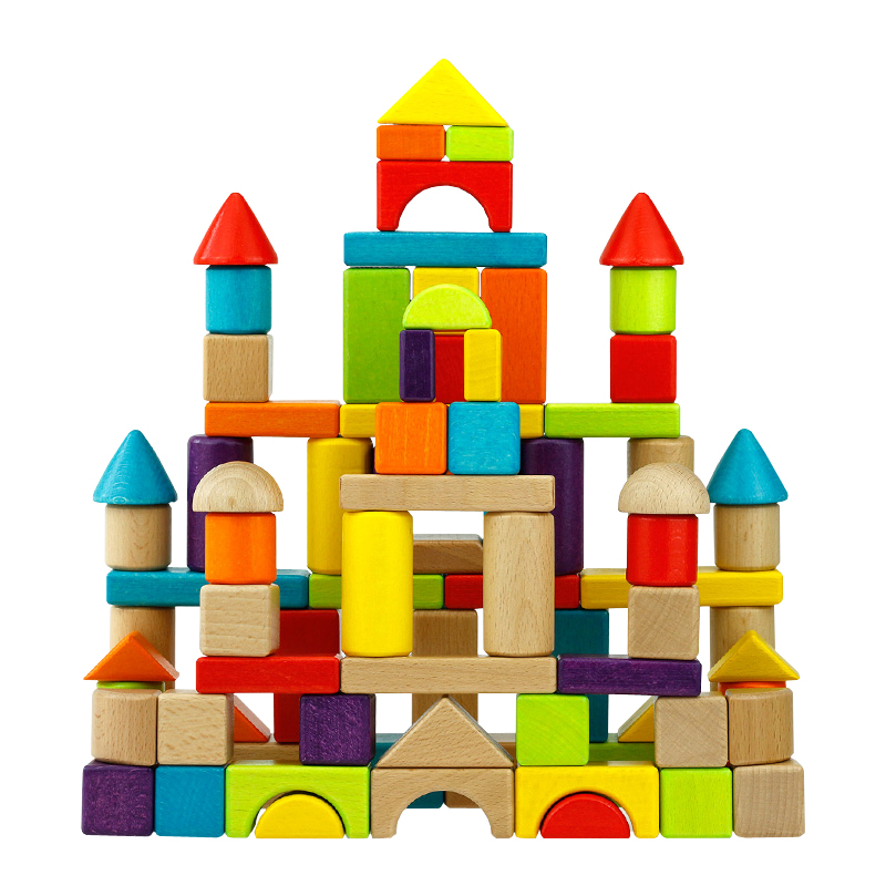 wooden color blocks toy