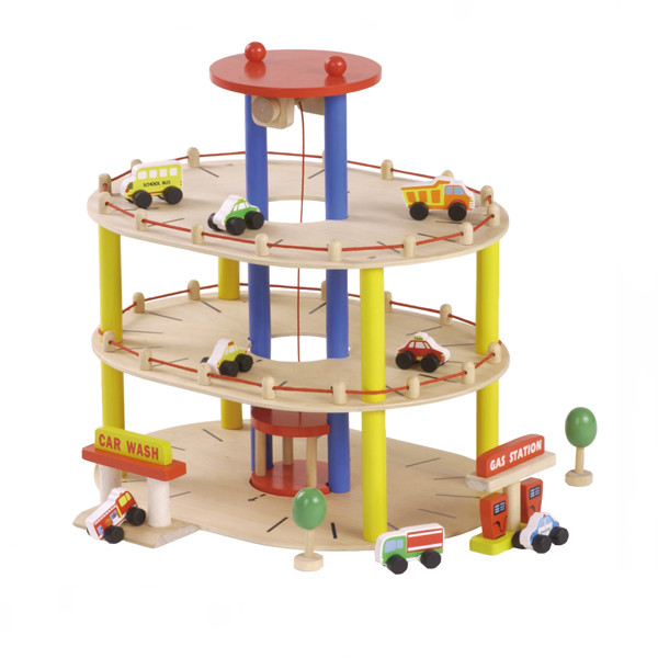 wooden educational car toy