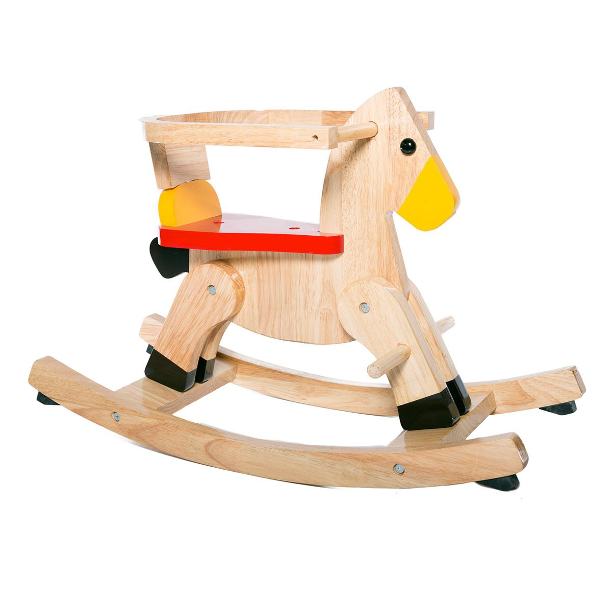 wooden baby rocking horse