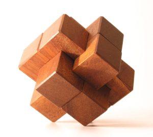 Six Part Wood Knot puzze