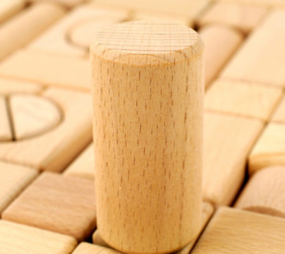 Baby wooden block toy for bite